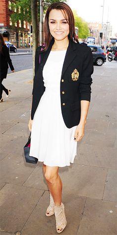 Samantha Barks. Love the blazer!