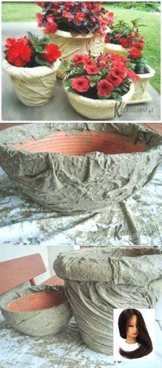 #domohozyajkacom domohozyajka.com        domohozyajka.com Diy Concrete Planters, Cement Art, Concrete Crafts, Concrete Projects, Concrete Garden, Concrete Design, Garden Crafts, Garden Projects, Cement Flower Pots