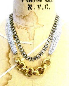 DLC Jewelry - Rhinestone and Gold Necklace
