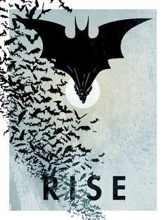 Dark Knight poster art by Matt Ferguson, via Behance