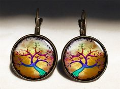 Autumn tree Big Earrings, 0607ERB from EgginEgg by DaWanda.com