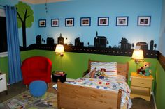 """The """"skyline"""" could be done in chalkboard paint too"""