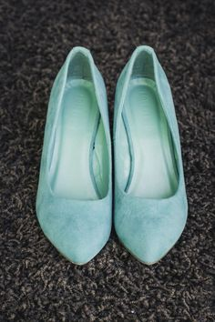 Mint blue wedding flats