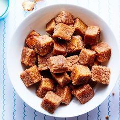 Cinnamon Toast Bites, maple butter