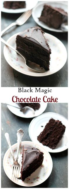 Moist, rich, and incredibly delicious dark chocolate cake - Perfect for any occasion! #recipe #cake #chocolate