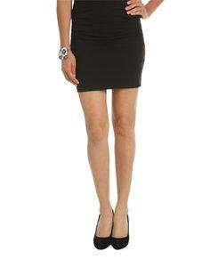 Solid Mini Skirt - Bottoms
