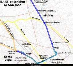 BART Expansion Concept Map (Unofficial) | Transit | Pinterest ...