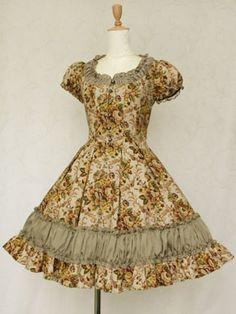 Gobelin Print Ludovica Frill Dress ルドヴィカフリルドレス © Victorian Maiden
