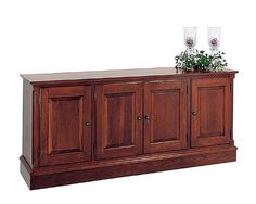 Cherry Credenza (lightly distressed) by Colonial Furniture Cherry Furniture, Colonial Furniture, Credenza, Home Office, Buffet, Cabinet, House, Inspiration, Home Decor