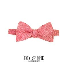 Red Chambray Bow Tie by FoxandBrie on Etsy, $45.00