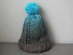 (baby) muts op de breiring met vlecht / babyhat knitting loom / eng subtitles - YouTube