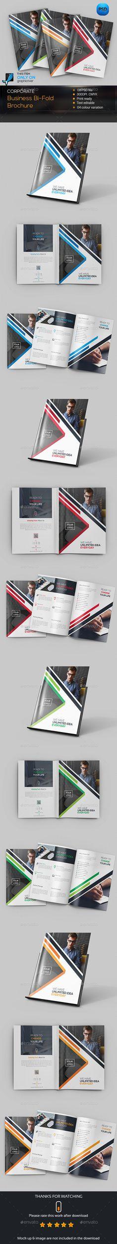 Corporate Bifold Brochure Template PSD #design Download: http://graphicriver.net/item/corporate-bifold-brochure/14258242?ref=ksioks