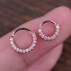 Daith Piercing Small Hoop Earring Daith Earring Tiny Gold Hoop Earring Septum Ring Septum Piercing Rook Piercing Zircon >>> Any quantity of the goods is only one shipping charge. Tiny Gold Hoop Earrings, Bar Stud Earrings, Emerald Earrings, Circle Earrings, Crystal Earrings, Crystal Jewelry, Silver Earrings, Drop Earring, Silver Ring