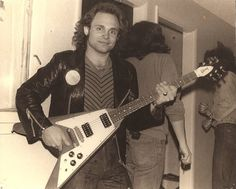 Michael Anthony with a Gibson flying V