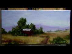 ▶ How To Paint A Country Side, Farm Land - Acrylic Painting Lessons by Brandon Schaefer - YouTube