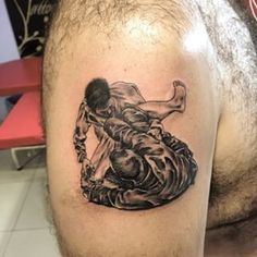 Open Guard Jiu Jitsu Tattoo isea