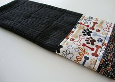 Dog Lover Black Kitchen Dish Towel  Woof Towel  Fabric
