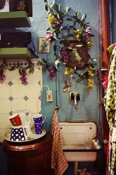 a witch's kitchen should be a little shabby... and colorful and creative and beautiful