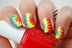 Tie Dye Nails!