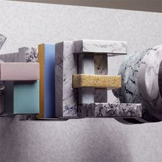 http://www.creativebloq.com/graphic-design/paper-craft-transforms-marble-textures-3132225