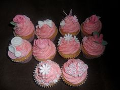 lovely pink home made 21st muffin cup cakes