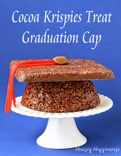 Hungry Happenings: Cocoa Krispies Treat Graduation Cap
