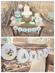 Peter Rabbit Dessert Table Easter Banner by Catherine Jane Joy