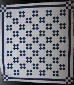 Four Patch Variation Quilt at www.antiquequilts.com/catalog16.htm#17739