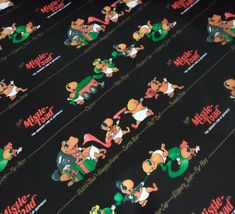 Toad Patrol Gift Wrap Wrapping Paper Vintage 1985 Christmas Holiday Black RARE Country Bears, Fairy Ring, Christmas Holidays, Christmas Ornaments, Toad, Fanart, Wraps, Gift Wrapping, Paper