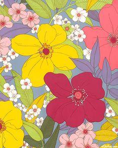 Tropix - Exotic Floral Delight - Quilt fabrics from www.eQuilter.com