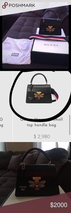 85e0d5650 Black Gucci Queen Margaret small top handle bag. Black Gucci Queen Margaret  small top handle