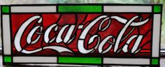 coca cola stained glass by russquatch