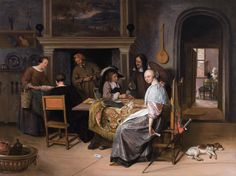 Jan Steen, The Card Players in an Interior