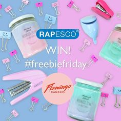 Win a selection of @rapesco desk goodies and the @flamingocandles Mermaid Ombre range! To enter follow @rapesco and @flamingocandles and tag two friends in the comments below. Competition ends Monday 4th September.  https://www.theprizefinder.com/competitions/win-rapesco-desk-goodies