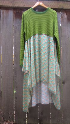 Upcycled Sweater Shirt Dress/ Funky Eco Dress/ by FuriousDesigns