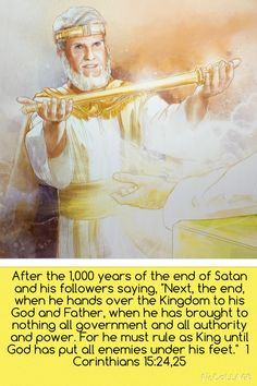 Jesus hands back the kingdom after reigning for 1000 years. Death brought to nothing. 1 Corinthians 15:25,26