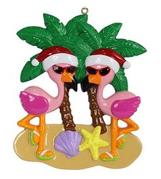 Flamingo Vacation Couple Personalized Ornament -- You can get additional details at the image link.