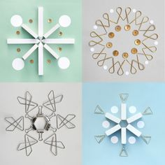 Stationery snowflakes.