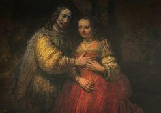 Rembrandt van Rijn - The Jewish Bride, 1667 at Rijks Museum Amsterdam Netherlands
