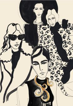 Rosie McGuinness (London-based), ca. 2016, Fashion Illustration.