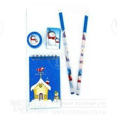 The perfect edition to children's pencil cases this winter and a great stocking filler. The pad, pencils, rubber and pencil sharpener all feature wintry scenes. - See more at: http://www.toyday.co.uk/shop/traditional-toys/seasonal-toys/christmas-stationery-set/prod_5702.html#sthash.TbjeCqUA.dpuf