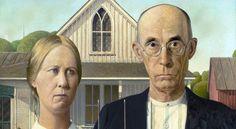 American Gothic Granta Wooda (na zdj. fragm. obrazu) to jedna z ikon sztuki amerykańskiej,  wymieniana obok Mony Lizy i Krzyku jako najbardziej znane dzieło sztuki na świecie