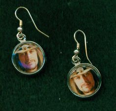 """Kid Rock """"Cowboy"""" Earrings $10.  If you prefer a different picture just let me know."""