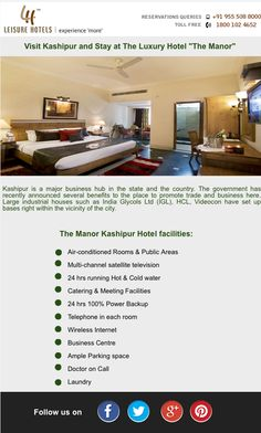 """Visit Kashipur and Stay at The Luxury Hotel """"The Manor"""""""