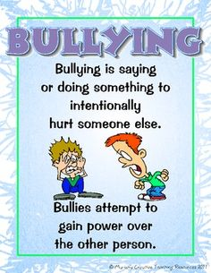 These bullying posters are a visual and descriptive way to explain the different forms of bullying. Posters include: * What is Bullying * Verbal Bullying * Social Bullying * Cyber Bullying * Physical Bullying Help us STOP Bullying Verbal Bullying, What Is Bullying, Verbal Abuse, Stop Bullying, Cyber Bullying, Bullying Posters, Bullying Quotes, Bullying Lessons, Anti Bullying Activities