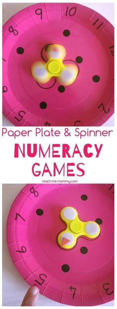 Paper Plate & Spinner NUMERACY Games
