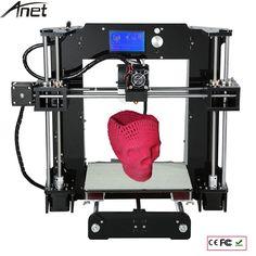 Easy Assemble Anet A6&A8 3d Printer Big Size High Precision Reprap Prusa i3 DIY 3D Printing Machine+ Hotbed+Filament+SD Card+LCD