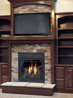 Walnut Tailored Ledgestone   This fireplace features Buechel…   Flickr