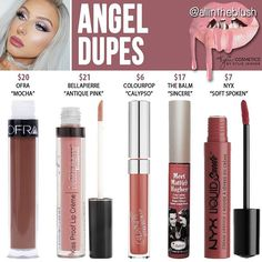 Kylie Cosmetics Holiday 2016 Collection Angel dupes: The Balm Sincere