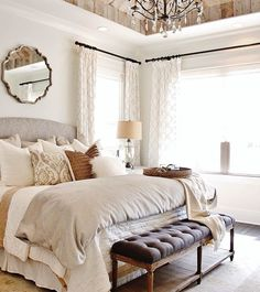 French Country Bedroom Kathy Kuo Home, LOVE The Ceiling